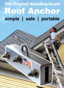 SeamSafe roof anchor