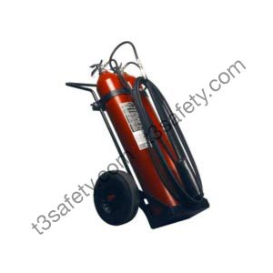100 lb. Co2 Wheeled Fire Extinguisher Unit