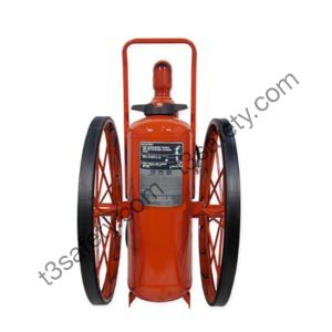 150 lb. ABC Wheeled Fire Extinguisher Unit (Rubber Wheels), (CR-RT-LT-I-A-150-C)
